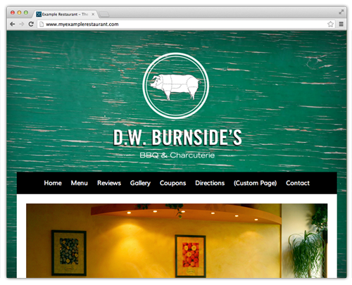 Sample restaurant website template