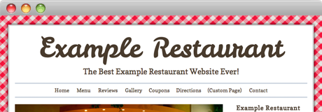 Italian restaurant website theme