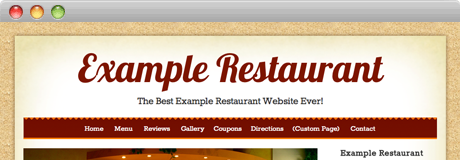 Mexican restaurant website theme