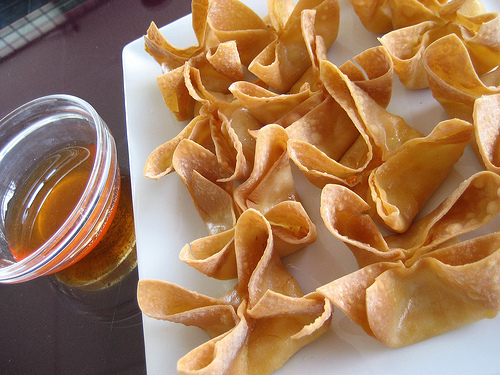 cream cheese wontons deep fried crispy wontons filled with cream ...