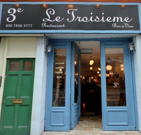 Le Troisième French Wine Bar & Restaurant  - The ideal city dweller's stop off, a warmly cosy restaurant but with a buzzy atmosphere and chic look