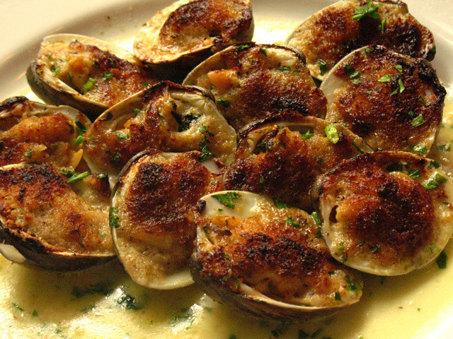 Baked Clams Oreganato