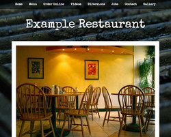 Barbecue restaurant website template
