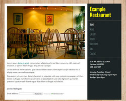 Soul Food restaurant website template