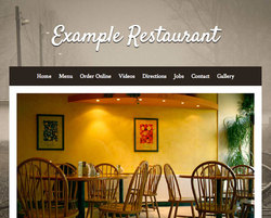Steakhouse restaurant website template