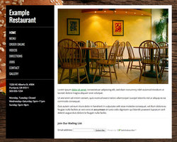 Burger restaurant website template
