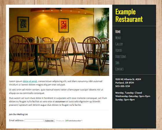 Let's Eat - The Restaurant Website Builder on old house menu, old cafe, old house theater, old house school, old house on the lake, coffee shop restaurant, old house pool, old house exterior, old house room, old western restaurants, jubilee restaurant, old house farm, old house spa, gas station restaurant, old house honey, old house on beach, old house construction, old house front view, old house shutter, church restaurant,